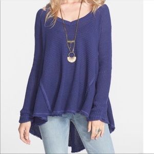 Free people navy blue sweater size small.